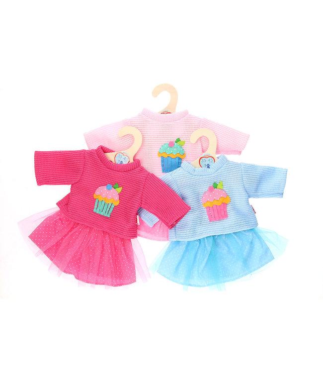Heless Poppenkleding Rok en Pullover Maat 35-45 cm