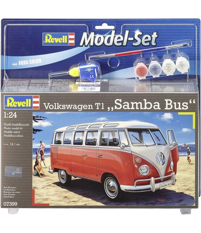 Revell Model Set VW T1 Samba Bus 1:24   8+