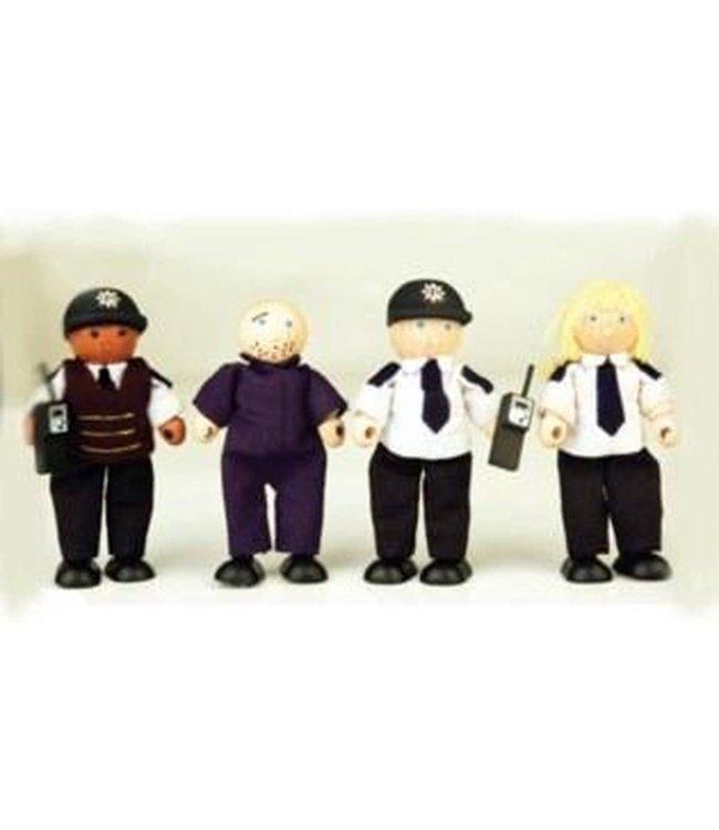 Politie met Gevangene Pin Toys