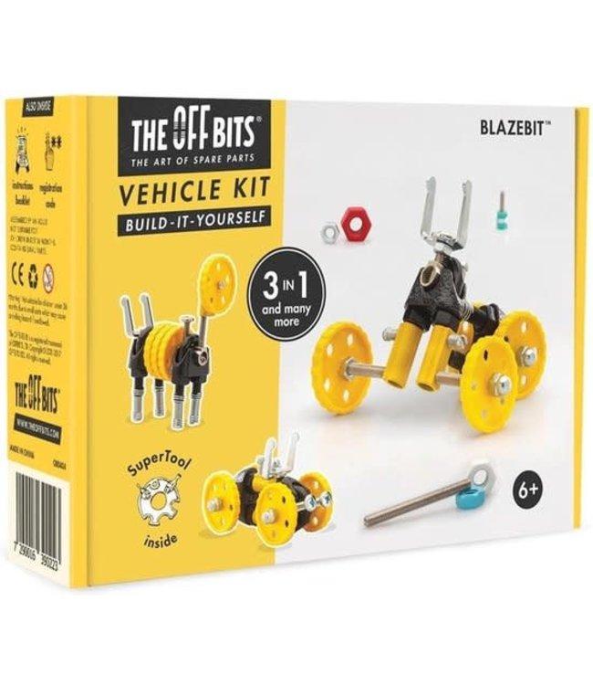 Offbits Vehicle Kit 3-in-1 Blazebit Geel Voertuig  6+