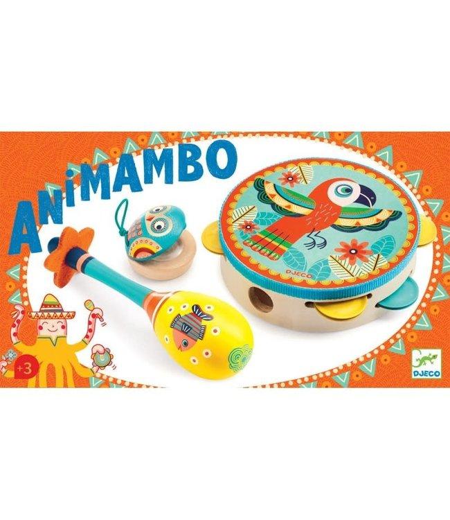 Djeco | Animambo | Tambourin-Maracas-Castagnette | 3+
