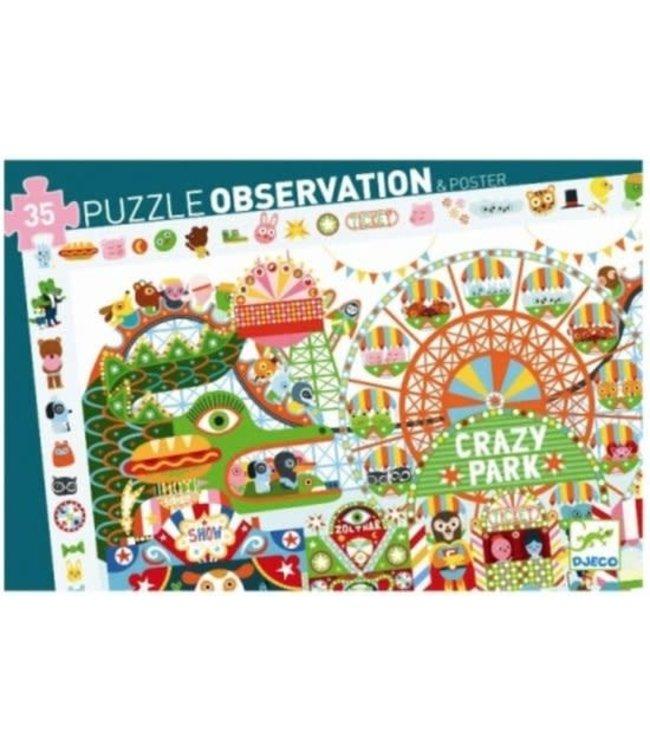 Djeco | Observation Puzzle | Crazy Park | 35 stukjes | 3+