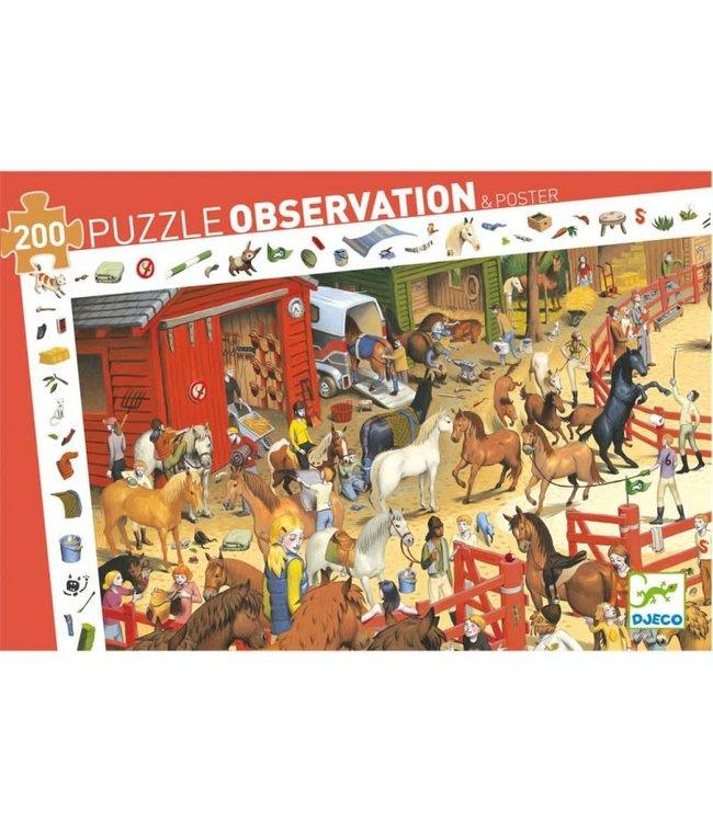 Djeco Puzzle Horse-Riding - 200 pcs   6+