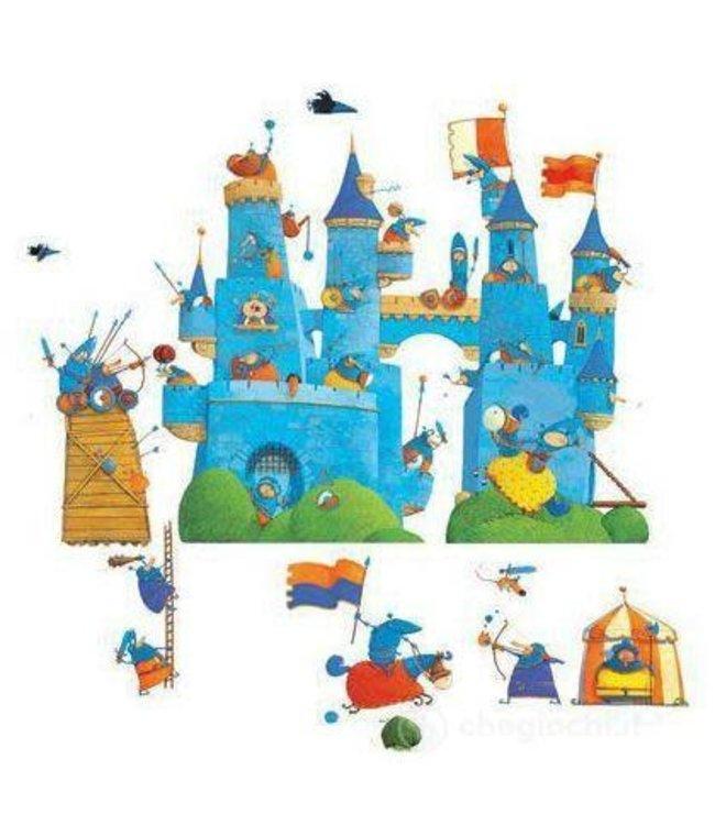 Djeco removable stickers le chateau fantastique