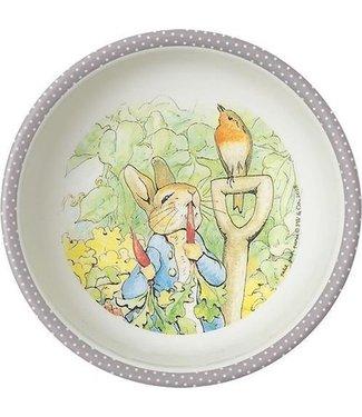 Petit Jour Petit Jour Schaaltje 14 cm Peter Rabbit Stippen Serie Grijs