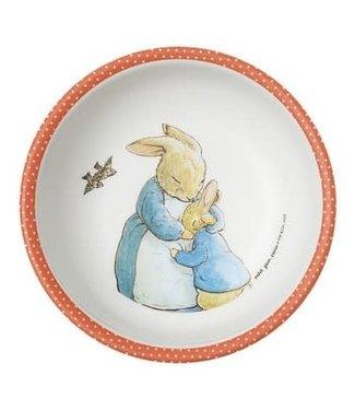 Petit Jour Petit Jour Schaaltje 14 cm Peter Rabbit Stippen Serie  Rood