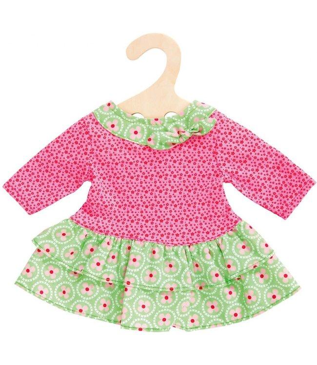 Heless Poppenkleding Jurkje Roze-groen maat 35-45 cm