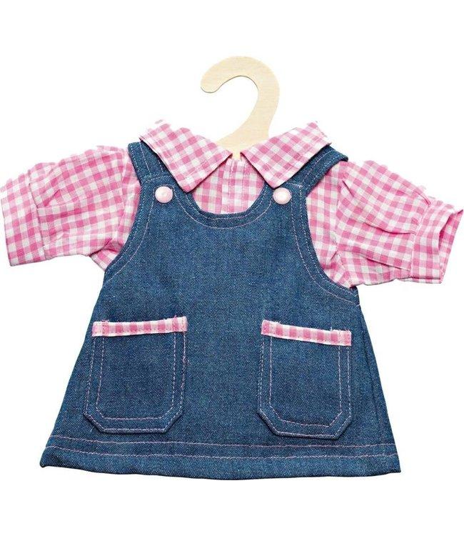 Heless Poppenkleding Jeansjurk met blouse 28-35cm
