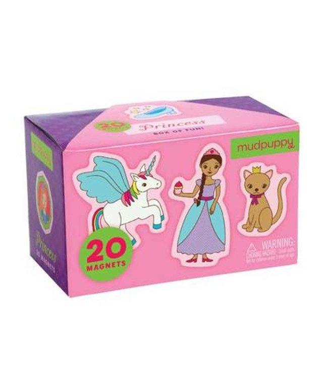 Mudpuppy Box of Magnets Princess 20 pcs  3+