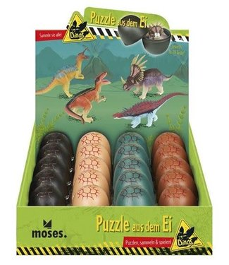 Moses Moses Dino Puzzel 16-19 delig in ei  3+