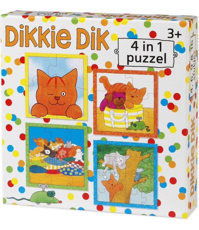 Dikkie Dik 4 in 1 puzzel (4+6+9+16)  3+
