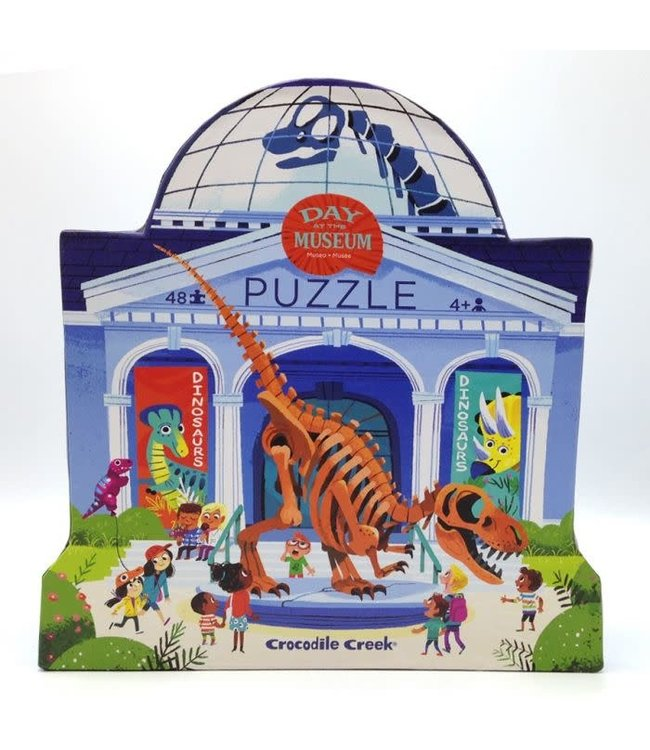 Crocodile Creek | Puzzle | Day at the Museum | Dinosaur | 48 stukjes | 4+