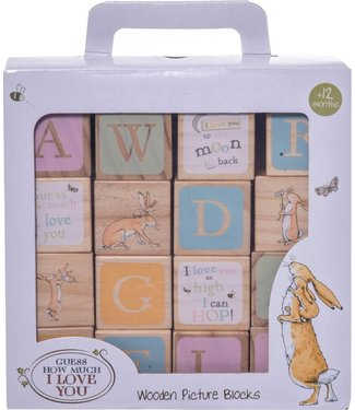 Wooden Picture Blocks Guess How Much I Love You 1+