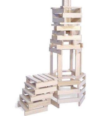 Vilac Vilac Batibloc Set met op Houten Kapla lijkende Plankjes 200 dlg 5+