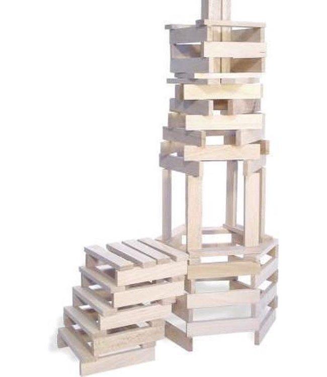 Vilac Batibloc Set met op Houten Kapla lijkende Plankjes 200 dlg 5+