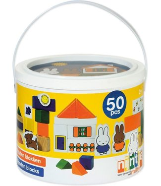 Miffy Blocks Nijntje Blokkenton 50 pcs  1+