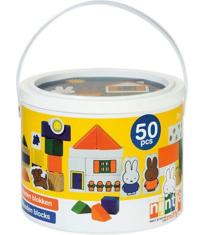 Miffy Blocks Nijntje Blokkenton 50 pcs  1+
