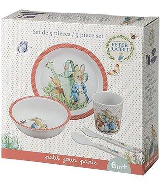 Petit Jour Petit Jour Peter Rabbit Giftset Box Coral 5 pcs