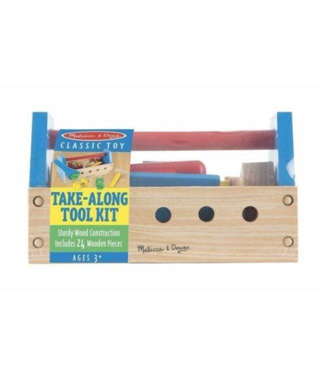 Melissa and Doug Take-Along Tool Kit Gereedschapskist 24 dlg 3+