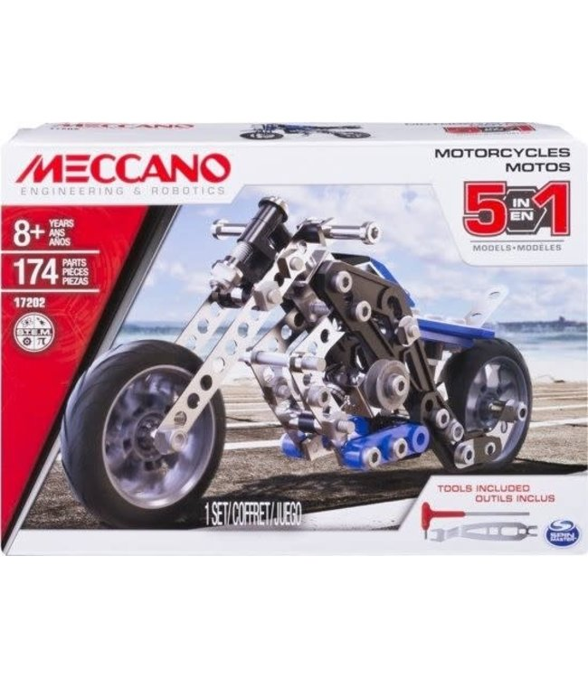 Meccano | Multi 5in1 | Motorcycle | 8+