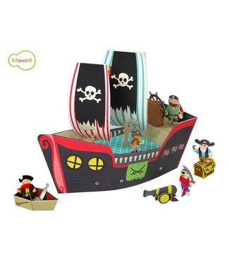 Krooom Play Sets Pirate Ship 3+