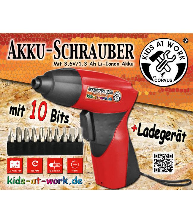 Kids At Work Korvus Accu Schroefboormachine 10+