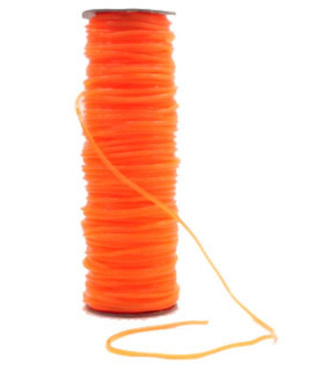 Springtouw Orange Transparant 4 mm Per Meter 5+