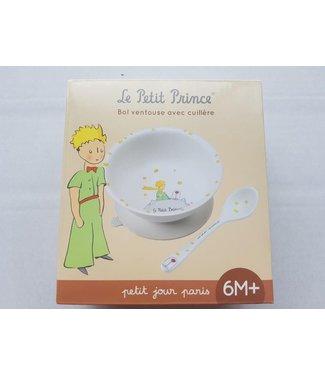 Petit Jour Petit Jour | Le Petit Prince | White Serie | Kommetje met Zuignap | inclusief lepel |  160 ml | +6 mnd