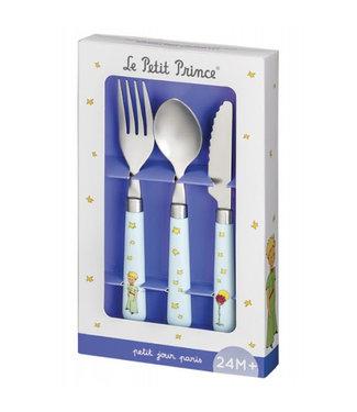 Petit Jour Petit Jour Little Prince Blue Serie Learning Cutlery Set 3 pcs