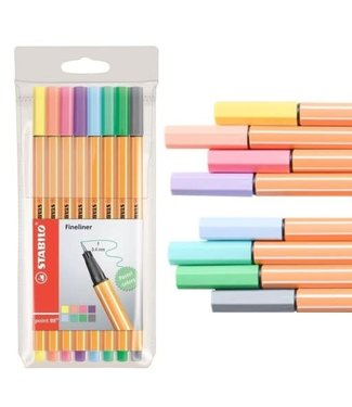 Stabilo Stabilo Pen 88 Fineliner Pastel 8 Kleuren