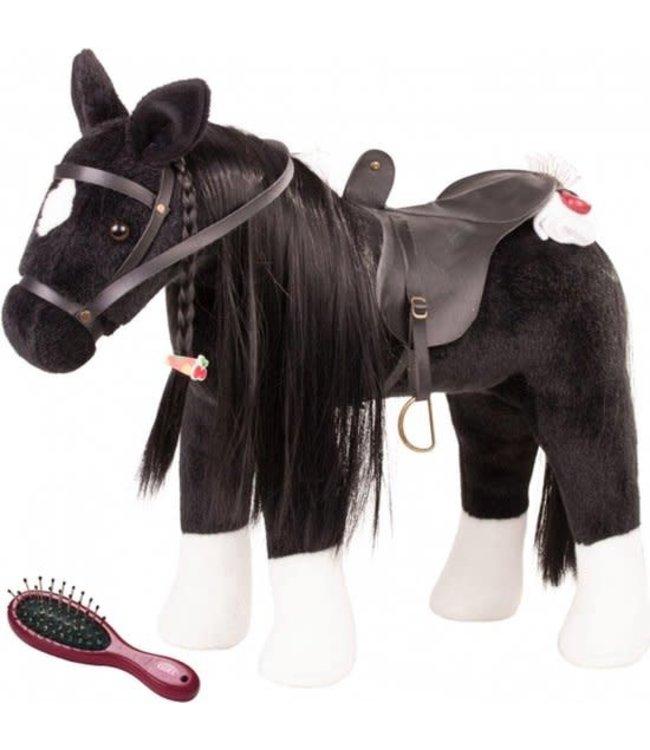 Gotz Plush Horse Black Hoogte 37 cm 3+