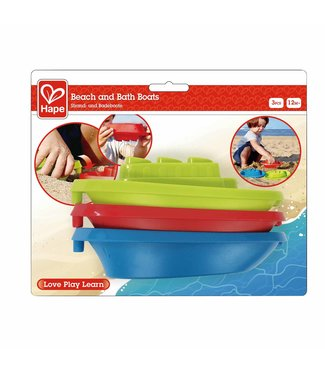 Hape Hape Beach and Bath Boats 3 pcs 1+