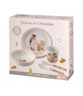 Petit Jour Petit Jour Giftset Ernest & Celestine 5 dlg Pink