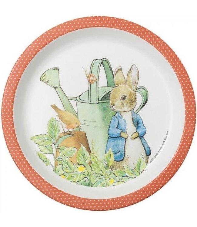 Petit Jour Bord Met Opstaande Rand 18 cm Peter Rabbit Rood