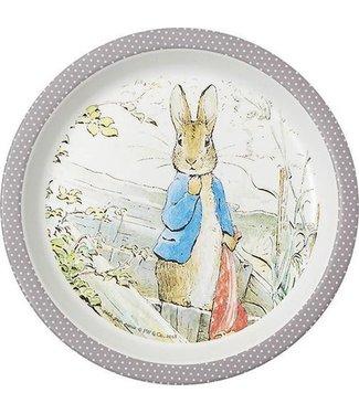 Petit Jour Petit Jour Bord Met Opstaande Rand 18 cm Peter Rabbit Grijs