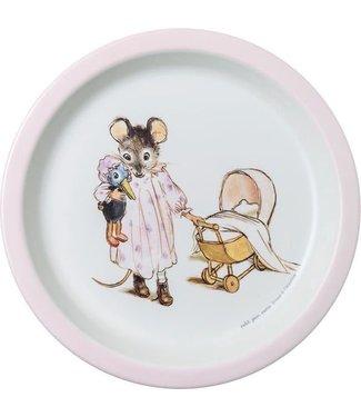 Petit Jour Petit Jour Bord Met Opstaande Rand 18 cm Ernest & Celestine Roze