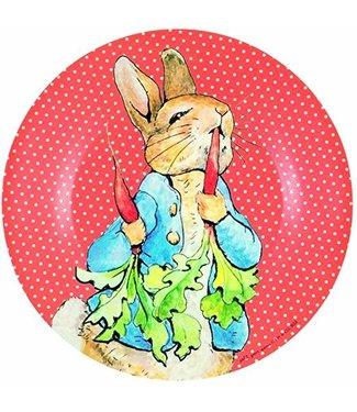 Petit Jour Petit Jour Bord 20 cm Peter Rabbit Stippen Rood