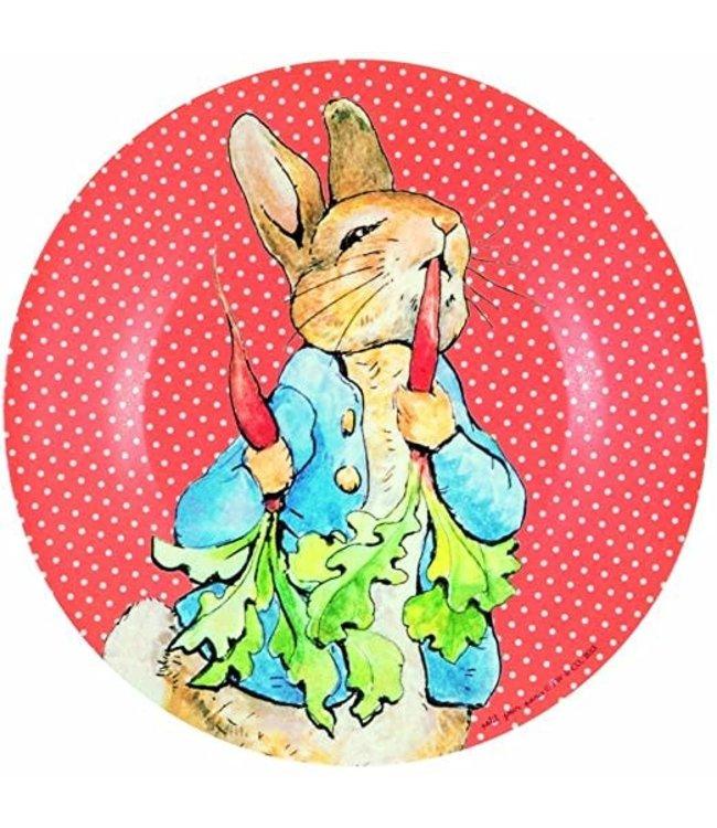 Petit Jour Bord 20 cm Peter Rabbit Stippen Rood