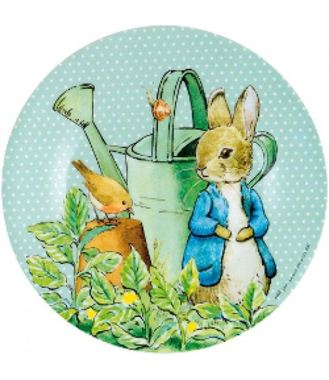 Petit Jour Bord 20 cm Peter Rabbit Stippen Groen