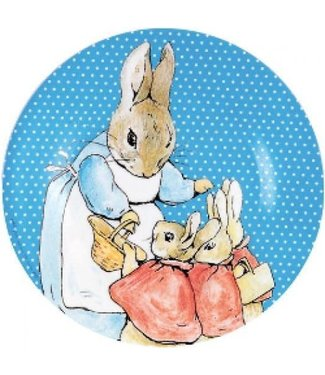 Petit Jour Petit Jour Bord 20 cm Peter Rabbit Stippen Blauw