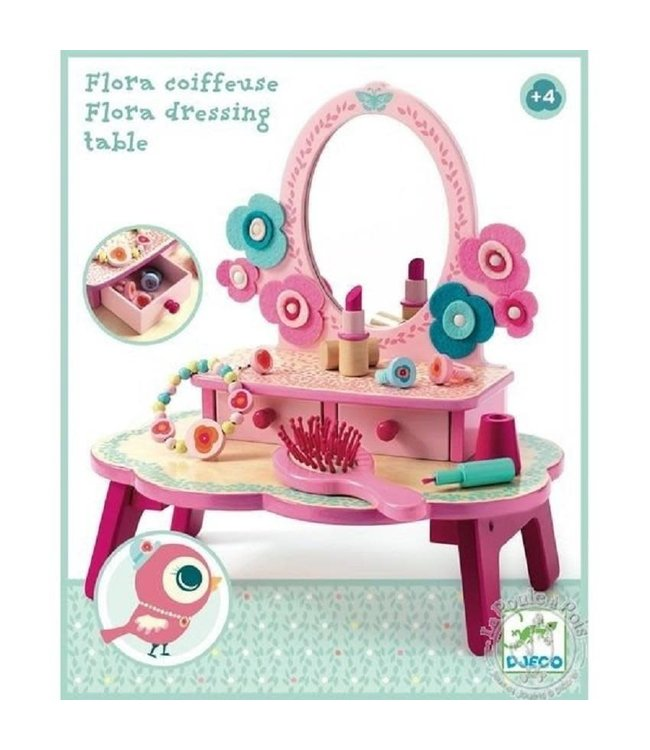 Djeco Role Play Houten Make Up Flora's Kaptafel 4+