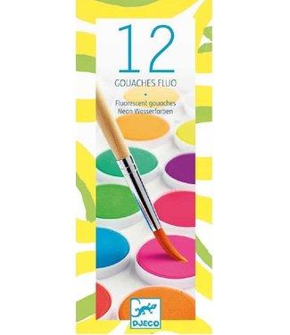 Djeco Djeco 12 Neon Color Cakes 4+