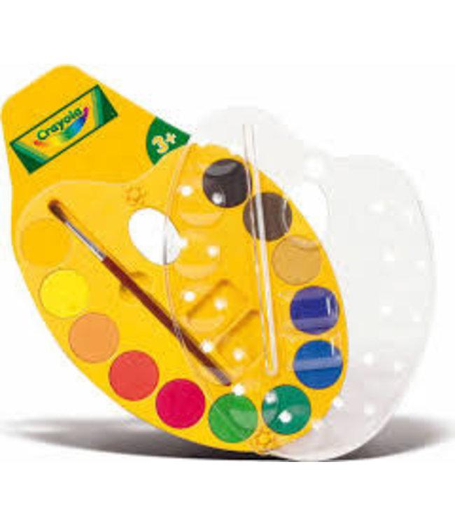 Crayola   Schilderspalet   Waterverf   12 kleuren   3+