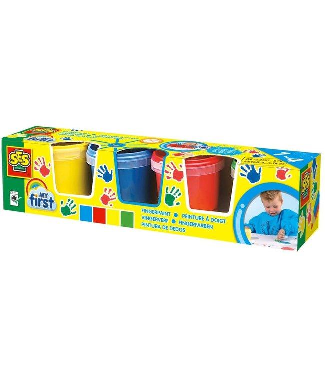 Ses- My First Vingerverf 4 kleuren   1+
