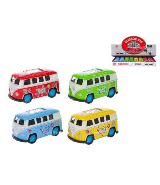 XToys Die Cast VW Bus Peace and Love Pullback 7,5 cm 3+