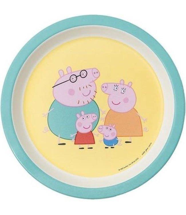 Petit Jour Paris | Peppa Pig | Bord Met Opstaande Rand | 18 cm | + 6 mnd