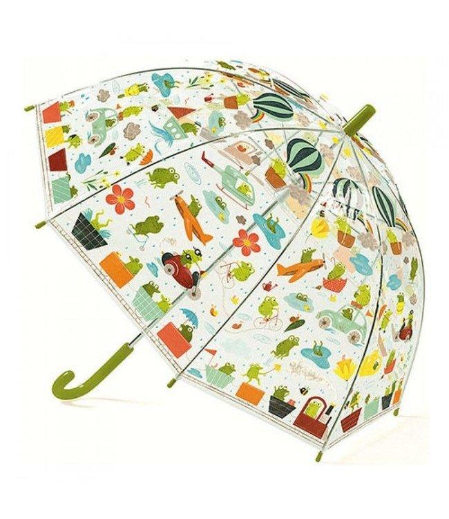Djeco | Paraplu 70 cm | Kikkers | 3+