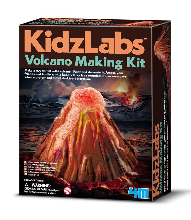4M | KidzLabs | Giet en Verf een Vulkaan | 8+