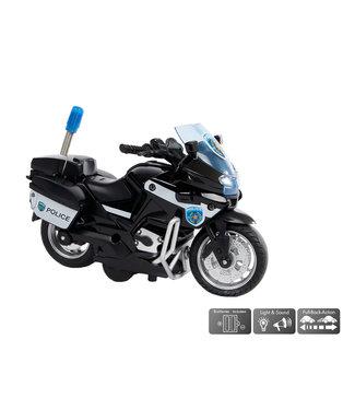 2-Play Traffic 2-Play Die Cast Politiemotor USA PullBack 13 cm Licht en Geluid 3+