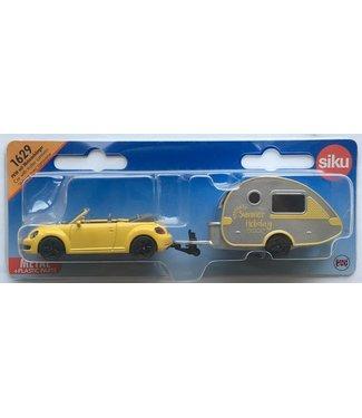 Siku Siku VW New Beetle Met Caravan